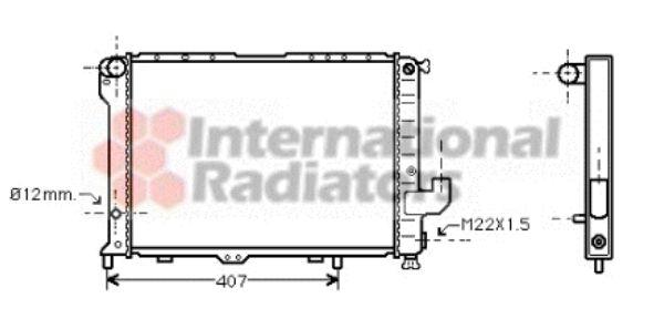 Radiateur, refroidissement du moteur - VAN WEZEL - 73002033