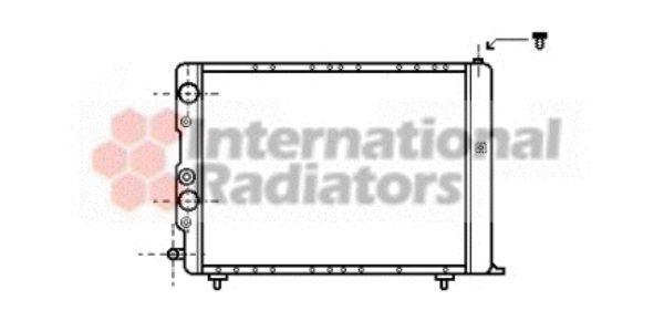 Radiateur, refroidissement du moteur - VAN WEZEL - 73002036