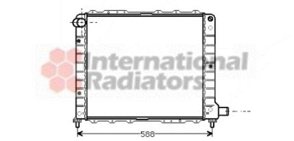 Radiateur, refroidissement du moteur - VAN WEZEL - 73002053