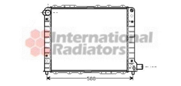 Radiateur, refroidissement du moteur - VAN WEZEL - 73002054