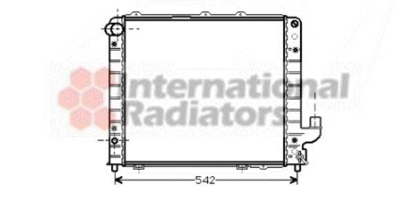 Radiateur, refroidissement du moteur - VAN WEZEL - 73002056