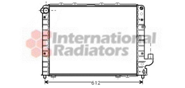Radiateur, refroidissement du moteur - VAN WEZEL - 73002059