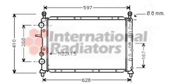 Radiateur, refroidissement du moteur - VAN WEZEL - 73002073