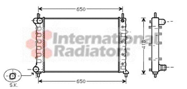 Radiateur, refroidissement du moteur - VAN WEZEL - 73002077