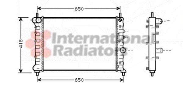 Radiateur, refroidissement du moteur - VAN WEZEL - 73002078