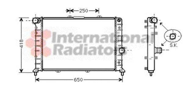 Radiateur, refroidissement du moteur - VAN WEZEL - 73002079