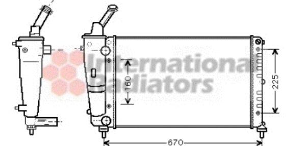 Radiateur, refroidissement du moteur - VAN WEZEL - 73002081