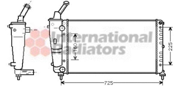 Radiateur, refroidissement du moteur - VAN WEZEL - 73002083