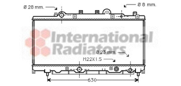 Radiateur, refroidissement du moteur - VAN WEZEL - 73002084