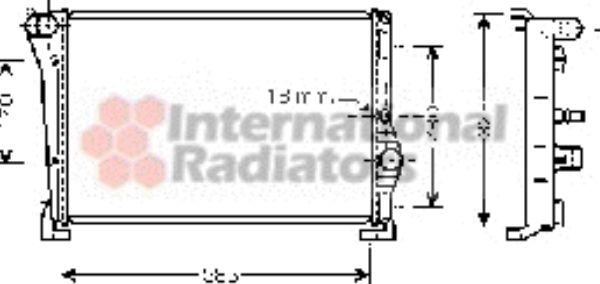 Radiateur, refroidissement du moteur - VAN WEZEL - 73002088