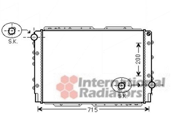 Radiateur, refroidissement du moteur - VAN WEZEL - 73002091