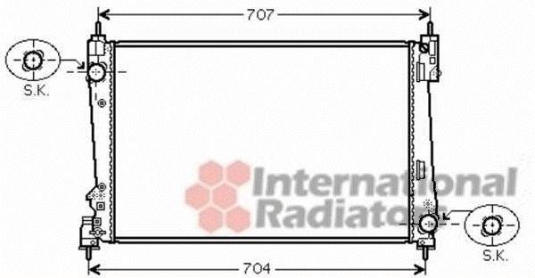 Radiateur, refroidissement du moteur - VAN WEZEL - 73002096