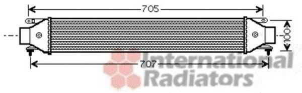Intercooler, échangeur - VAN WEZEL - 73004092