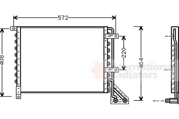 Condenseur, climatisation - VAN WEZEL - 73005063