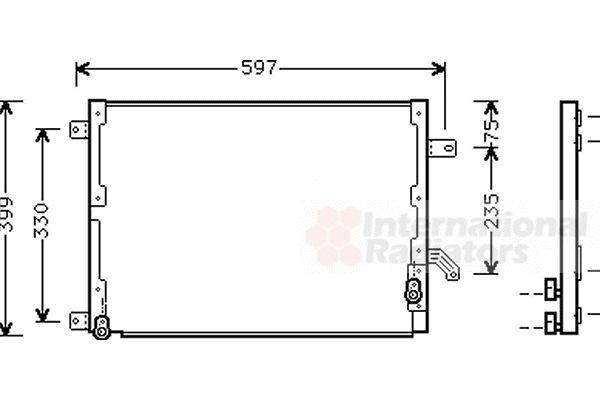 Condenseur, climatisation - VAN WEZEL - 73005070