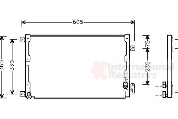Condenseur, climatisation - VAN WEZEL - 73005071