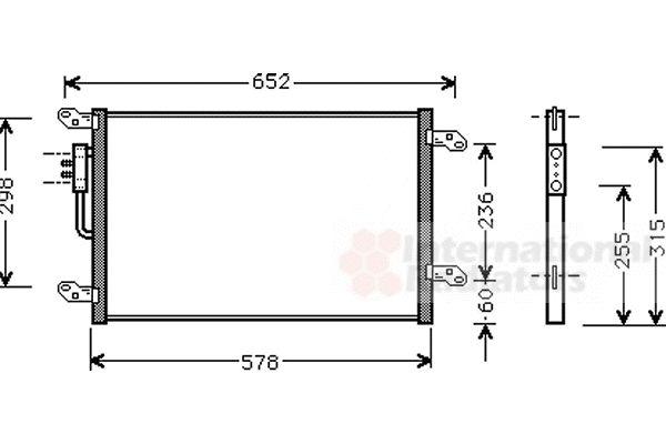 Condenseur, climatisation - VAN WEZEL - 73005080