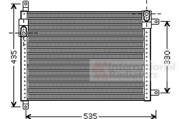 Condenseur, climatisation - VAN WEZEL - 73005089