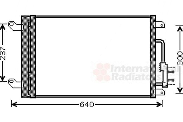 Condenseur, climatisation - VAN WEZEL - 73005090