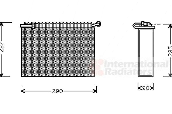 Evaporateur climatisation - VAN WEZEL - 7300V006