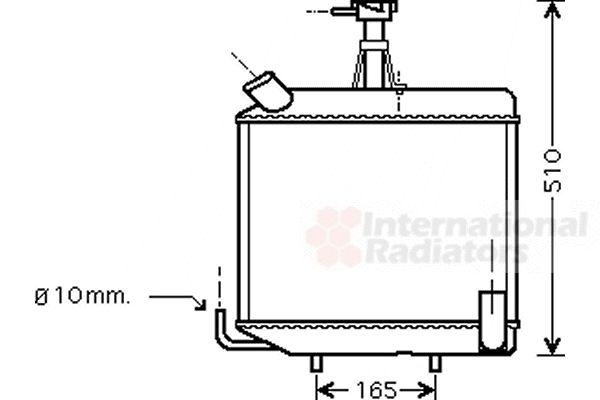 Radiateur, refroidissement du moteur - VAN WEZEL - 98002001