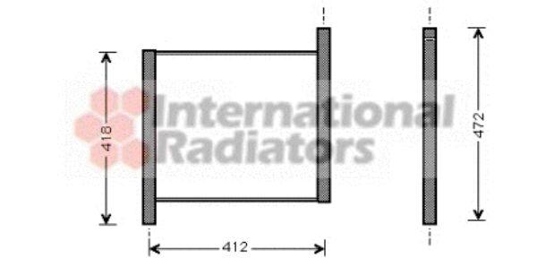 Radiateur, refroidissement du moteur - VAN WEZEL - 29002002
