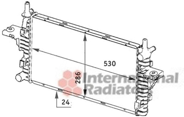 Radiateur, refroidissement du moteur - VAN WEZEL - 29002006