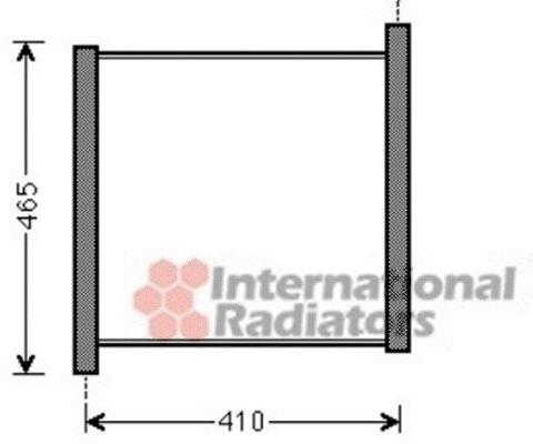 Radiateur, refroidissement du moteur - VAN WEZEL - 29002012
