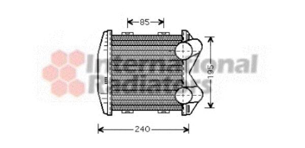 Intercooler, échangeur - VAN WEZEL - 29004003