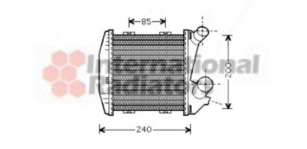 Intercooler, échangeur - VAN WEZEL - 29004004