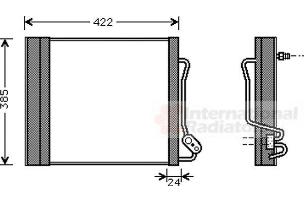 Condenseur, climatisation - VAN WEZEL - 29005001