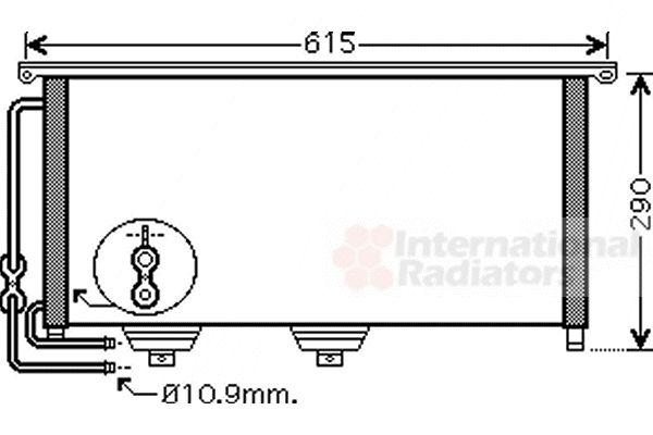 Condenseur, climatisation - VAN WEZEL - 29005007