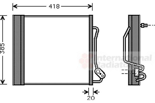 Condenseur, climatisation - VAN WEZEL - 29005010
