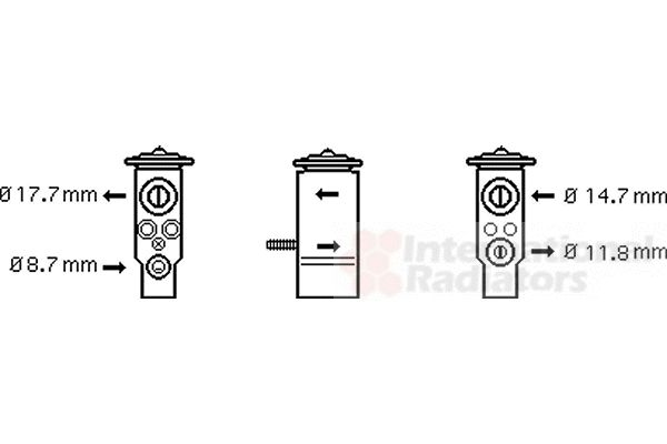Détendeur, climatisation - VAN WEZEL - 30001111