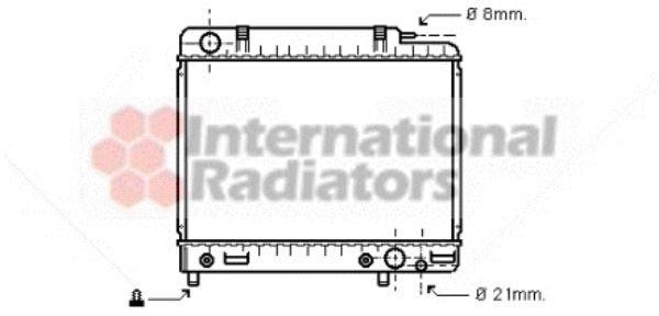 Radiateur, refroidissement du moteur - VAN WEZEL - 30002041