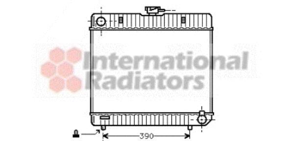 Radiateur, refroidissement du moteur - VAN WEZEL - 30002042