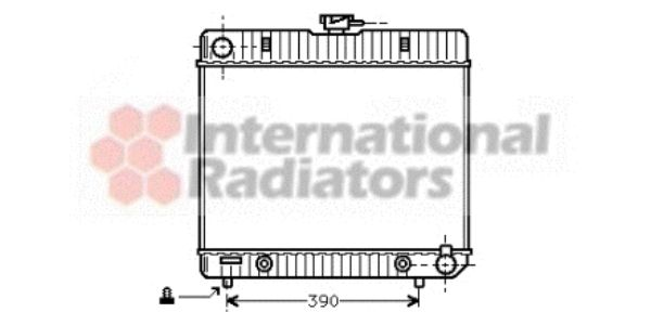 Radiateur, refroidissement du moteur - VAN WEZEL - 30002043
