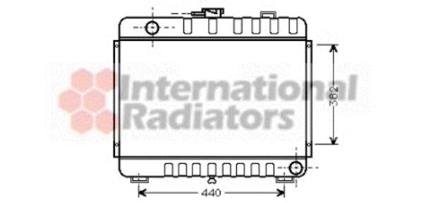 Radiateur, refroidissement du moteur - VAN WEZEL - 30002045