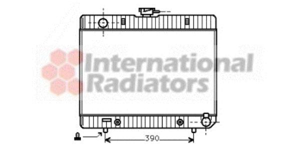 Radiateur, refroidissement du moteur - VAN WEZEL - 30002055