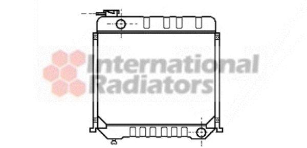 Radiateur, refroidissement du moteur - VAN WEZEL - 30002059