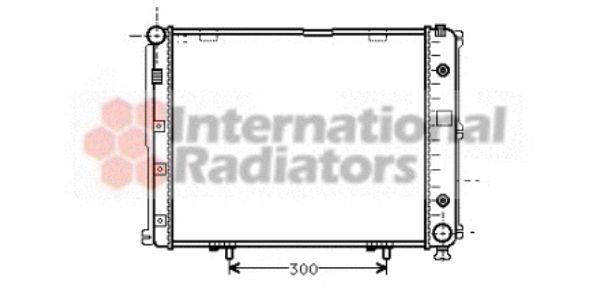 Radiateur, refroidissement du moteur - VAN WEZEL - 30002068