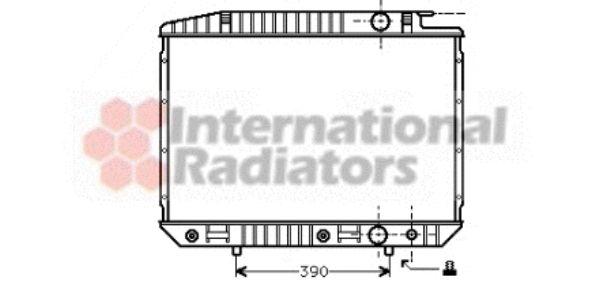 Radiateur, refroidissement du moteur - VAN WEZEL - 30002070