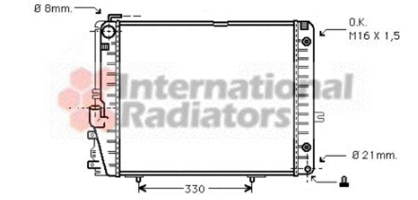 Radiateur, refroidissement du moteur - VAN WEZEL - 30002072