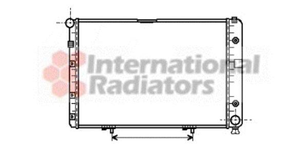 Radiateur, refroidissement du moteur - VAN WEZEL - 30002077