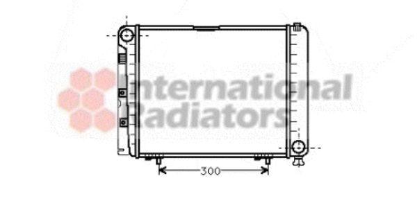 Radiateur, refroidissement du moteur - VAN WEZEL - 30002079