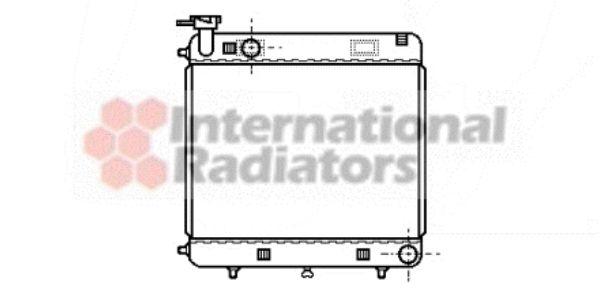 Radiateur, refroidissement du moteur - VAN WEZEL - 30002085