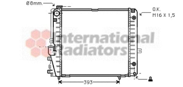 Radiateur, refroidissement du moteur - VAN WEZEL - 30002086