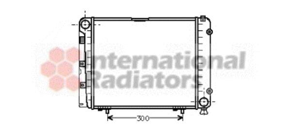 Radiateur, refroidissement du moteur - VAN WEZEL - 30002095