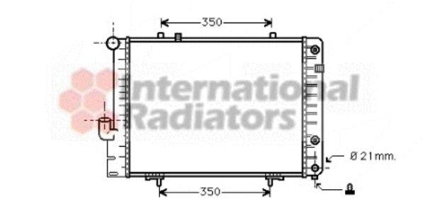 Radiateur, refroidissement du moteur - VAN WEZEL - 30002096