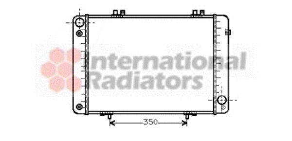 Radiateur, refroidissement du moteur - VAN WEZEL - 30002099